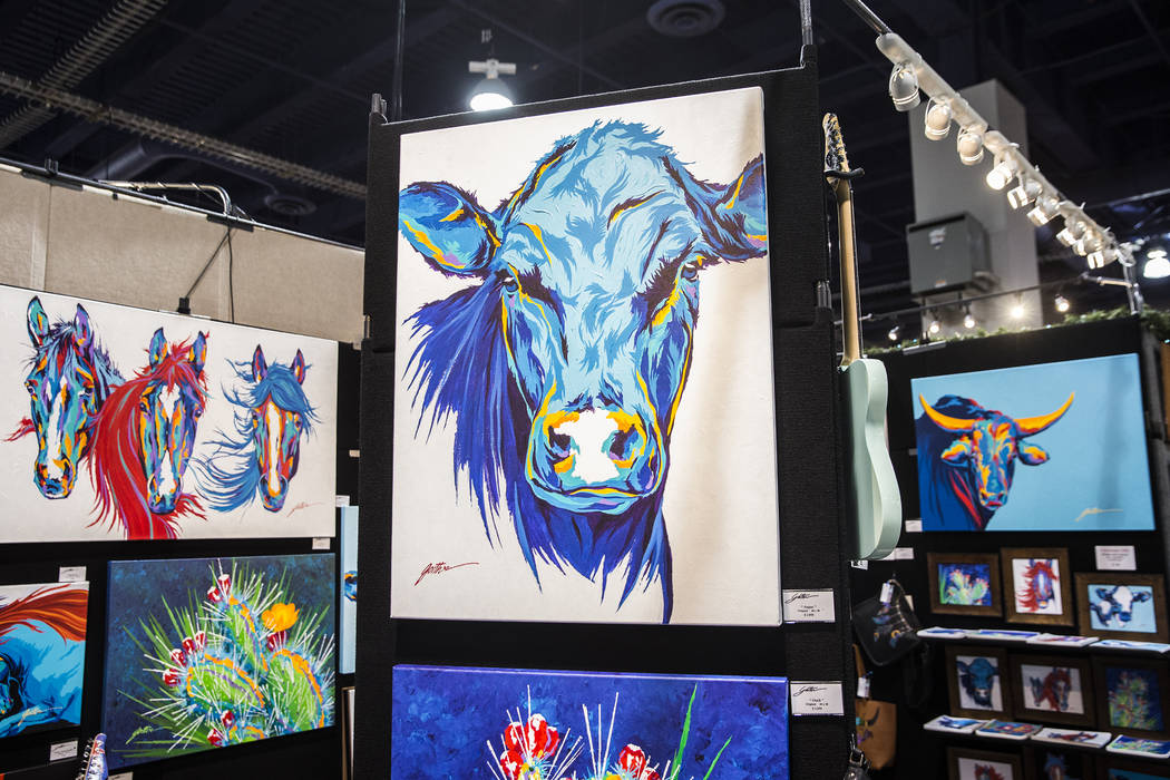 Painter Lyndon Gaither's Contemporary Western Art at Cowboy Christmas at the Las Vegas Convention Center on Thursday, Dec. 6, 2018, in Las Vegas. Benjamin Hager Las Vegas Review-Journal