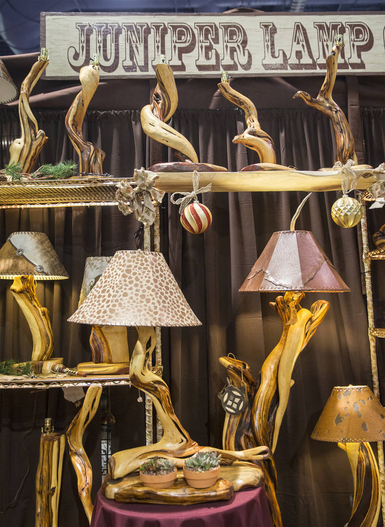 Juniper Lamp Co. at Cowboy Christmas at the Las Vegas Convention Center on Thursday, Dec. 6, 2018, in Las Vegas. Benjamin Hager Las Vegas Review-Journal