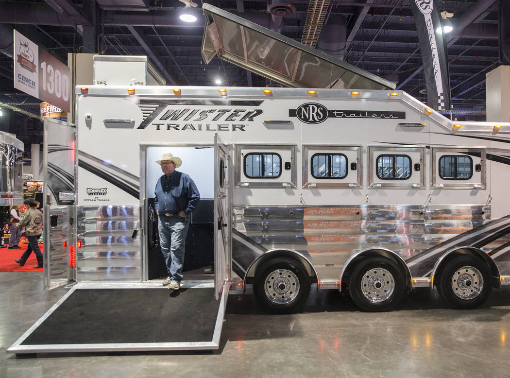 Shoppers explore the Twisted Trailer at Cowboy Christmas at the Las Vegas Convention Center on Thursday, Dec. 6, 2018, in Las Vegas. Benjamin Hager Las Vegas Review-Journal