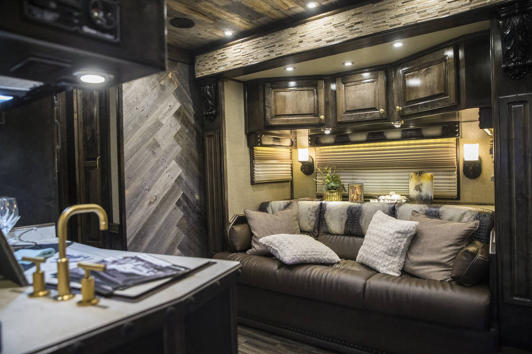 The interior of the Twisted Trailer at Cowboy Christmas at the Las Vegas Convention Center on Thursday, Dec. 6, 2018, in Las Vegas. Benjamin Hager Las Vegas Review-Journal
