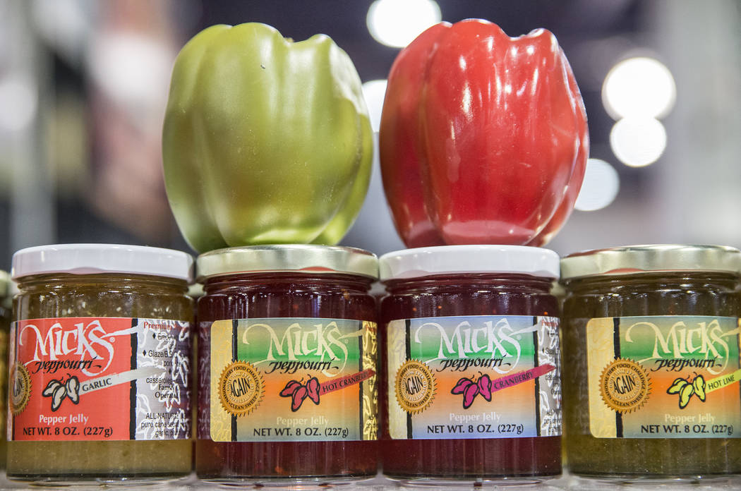 Samples of Micks Peppouri at Cowboy Christmas at the Las Vegas Convention Center on Thursday, Dec. 6, 2018, in Las Vegas. Benjamin Hager Las Vegas Review-Journal