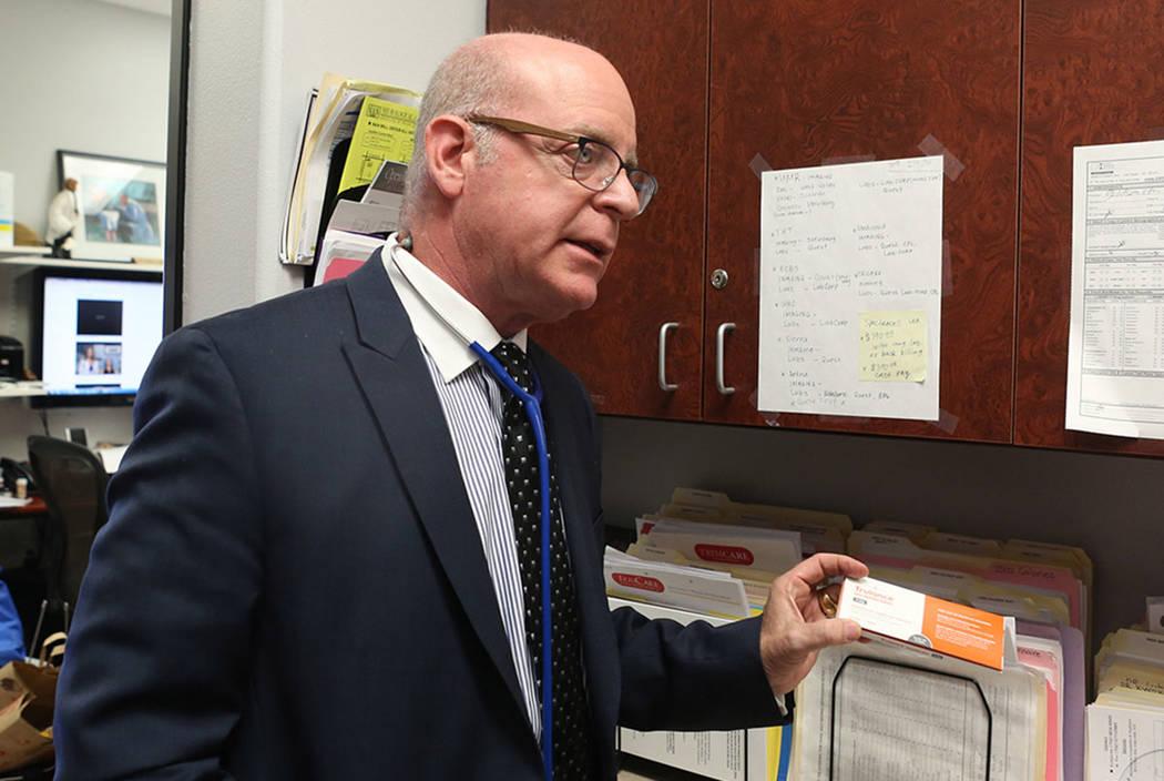 Dr. Ivan Goldsmith at his Las Vegas office in 2017. (Elizabeth Brumley/Las Vegas Review-Journal)