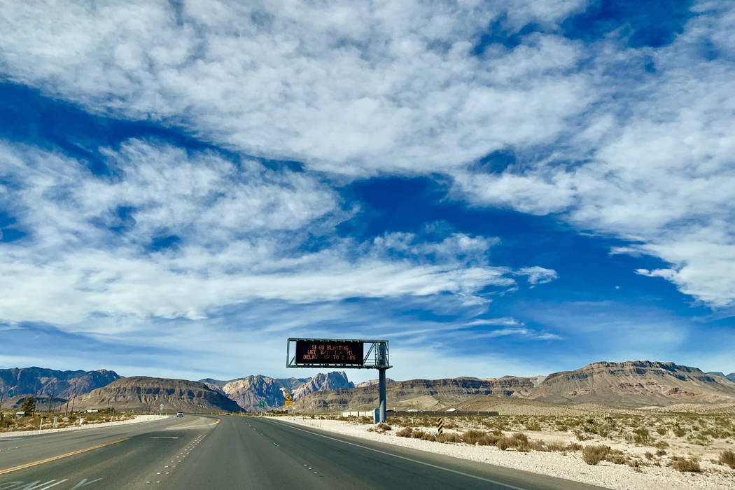 State Route 160 begins a rural stretch just ahead of the State Route 159 intersection. The road is the starting point to a alternative route through Pahrump, Nev. to avoid the holiday back up on I ...