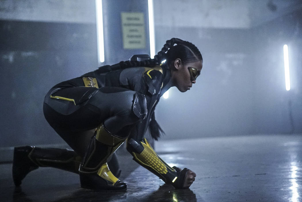 """Black Lightning -- """"Sins Of The Father: The Book of Redemption -- Image BLK110b_0277bb.jpg -- Pictured: Nafessa Williams as Thunder -- Photo: Annette Brown/The CW -- © 2018 The CW Network, LLC. ..."""