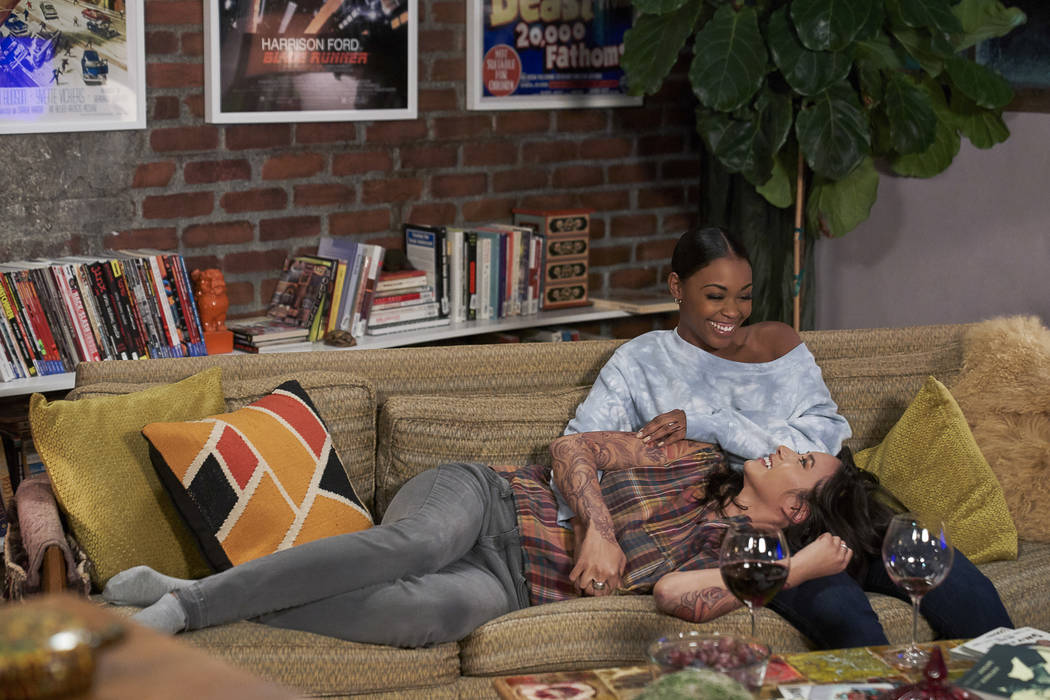 """Black Lightning -- """"The Book of Blood: Chapter Three: The Sange"""" -- Image BLK207a_0208b.jpg -- Pictured (L-R): Chantal Thuy as Grace Choi and Nafessa Williams as Anissa -- Photo: Bob Mahoney/The C ..."""