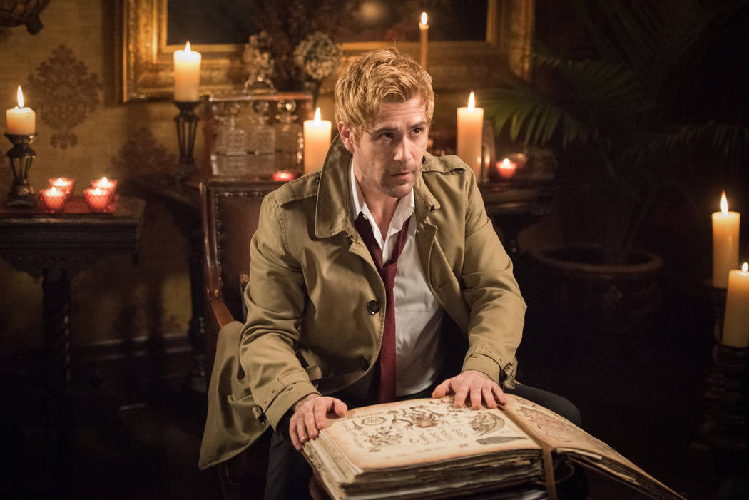 """DC's Legends of Tomorrow -- """"Necromancing the Stone"""" -- Image Number: LGN315b_0294.jpg -- Pictured: Matt Ryan as Constantine -- Photo: Dean Buscher/The CW -- © 2018 The CW Network, LLC. All Right ..."""