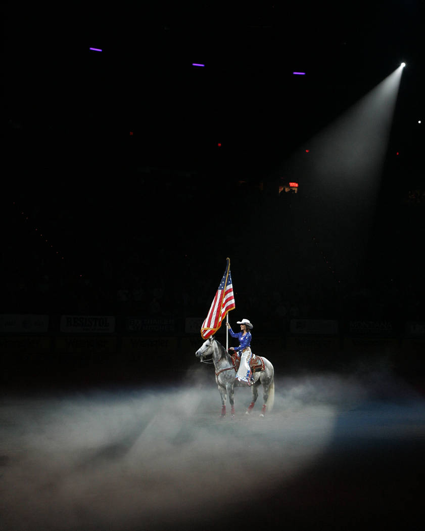 Starting ceremony of round 5 of the 2010 Wranglers National Finals Rodeo at the Thomas and Mack Center, December 6, 2010 in Las Vegas, Nevada. (Duane Prokop/Las Vegas Review-Journal)