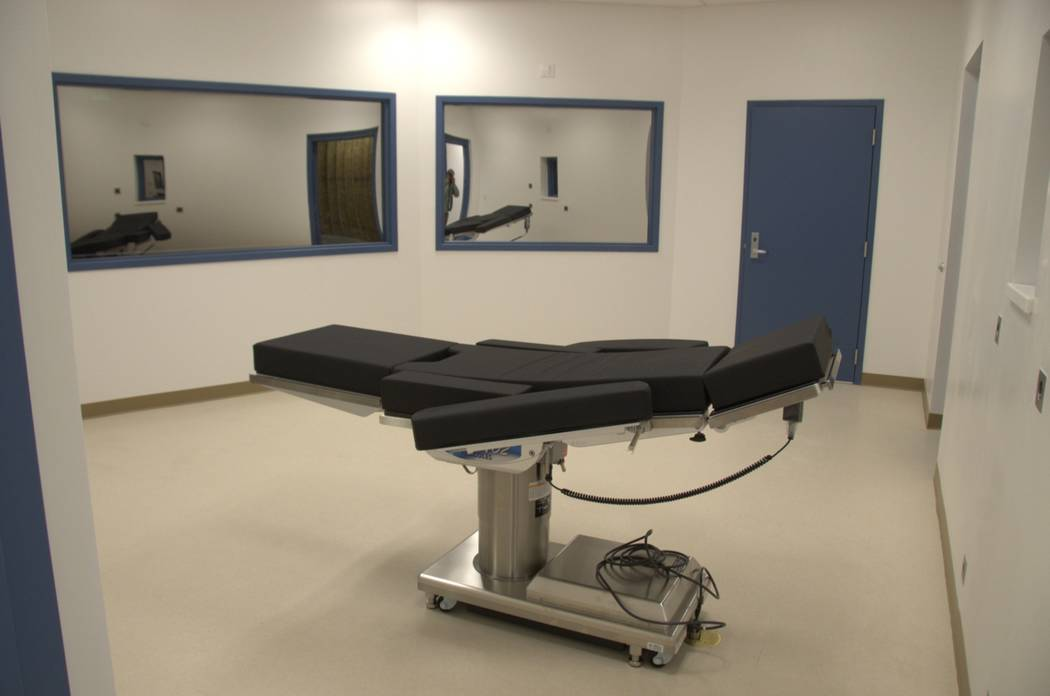 A view of the gurney inside the execution chamber at Ely State Prison on Nov. 10, 2016. (Nevada Department of Corrections)