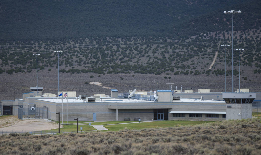 A view of Ely State Prison, which houses Nevada's execution chamber, on July 10, 2018. (Chase Stevens/Las Vegas Review-Journal) @csstevensphoto