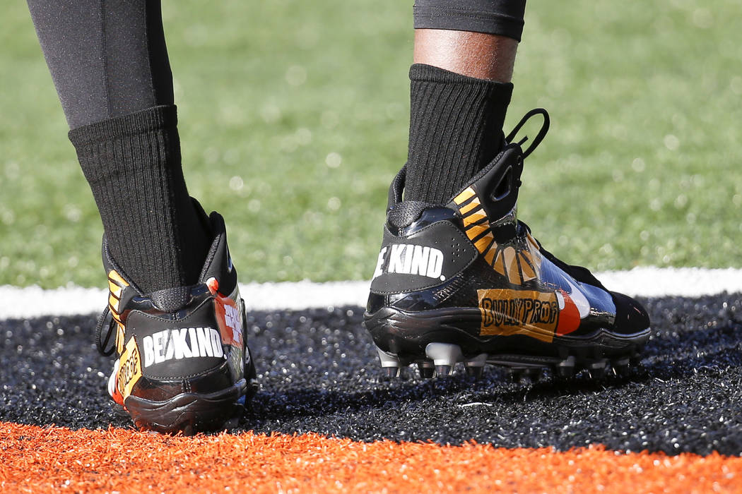 NFL players wear custom shoes for 'My