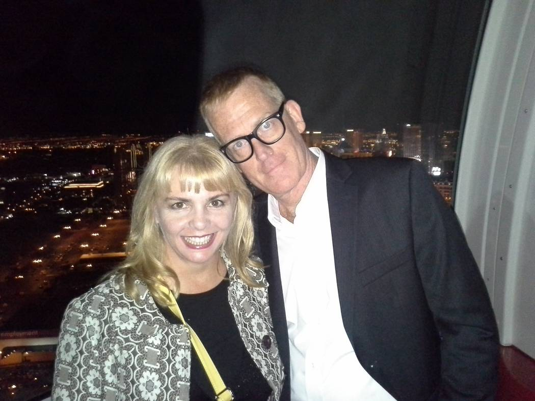 Traci Skene and Brian McKim, shown on the High Roller at Linq Promenade, were married in Hawaii by the late Rev. Richard B. Elsner, also famous as bassist for Dean Martin and the Goldiggers. (Trac ...