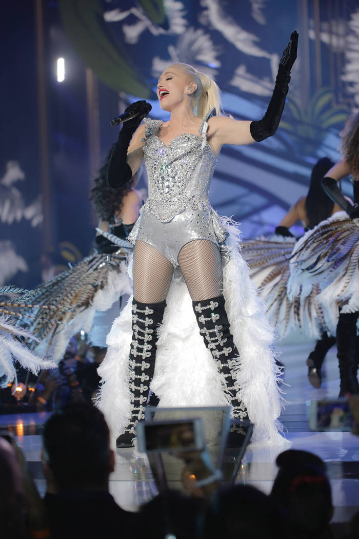 Gwen Stefani opened her residency with Las Vegas grandeur at the Zappos Theater at Planet Hollywood, Wednesday, June 27, 2018. (Todd Stefani)
