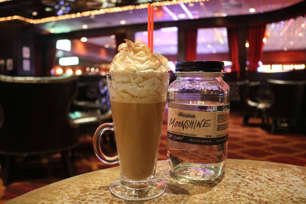 Holiday Hooch at Parlour Bar at El Cortez. Janna Karel Las Vegas Review-Journal