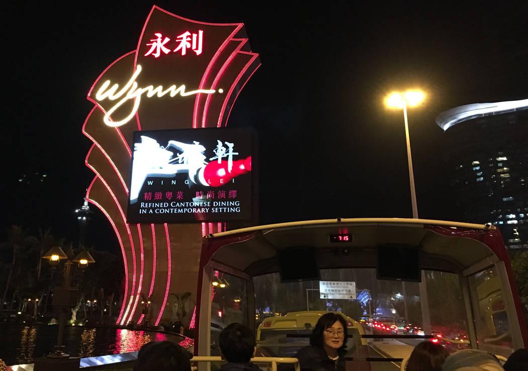 Wynn Macau hotel-casino in Macau, Friday, Jan.12, 2018. Chitose Suzuki Las Vegas Review-Journal