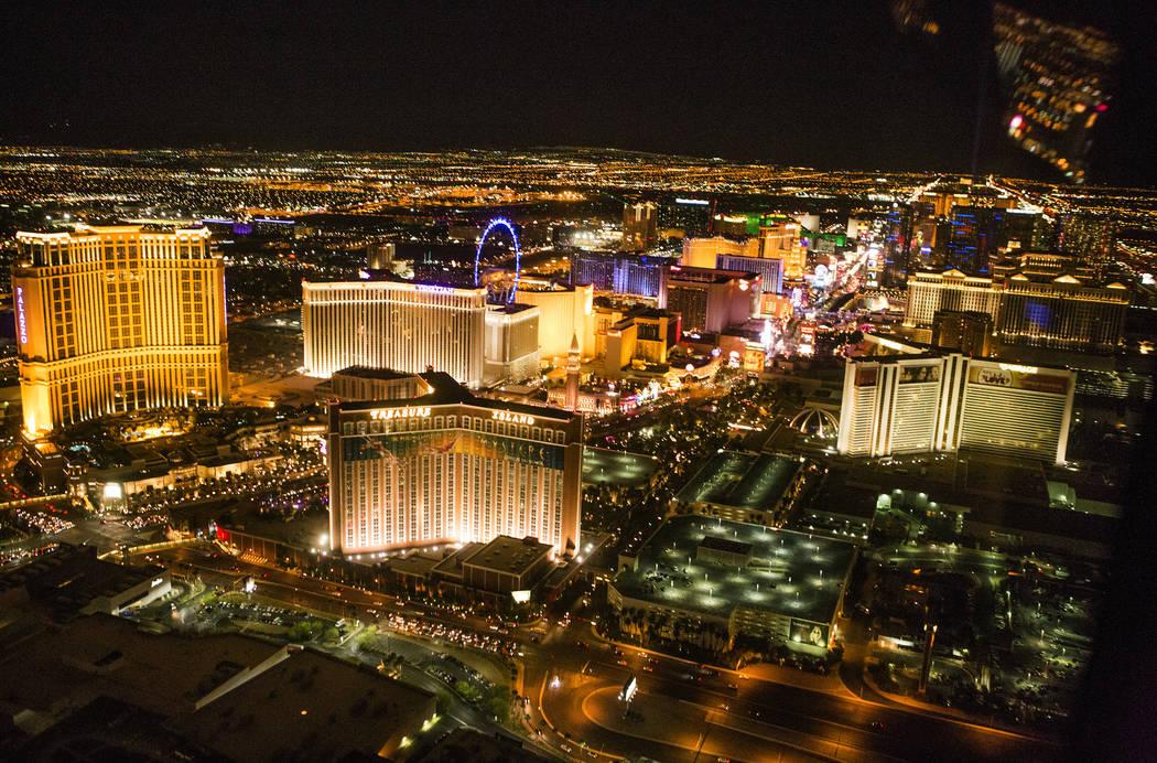 An aerial view of Las Vegas Strip. Jeff Scheid/Las Vegas Review-Journal