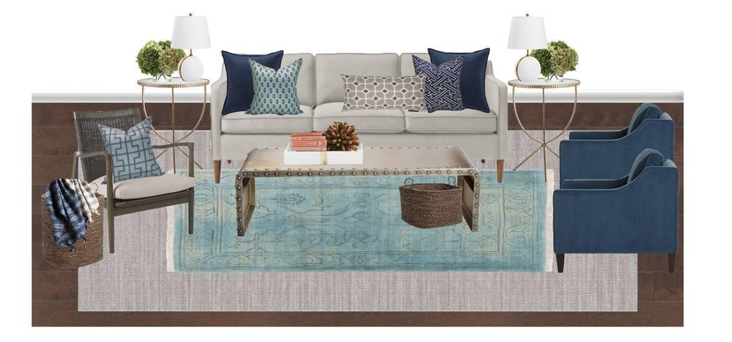 Online design site SwatchPop! sent Carolyn McLaurin this design concept for her family room. (SwatchPop!)