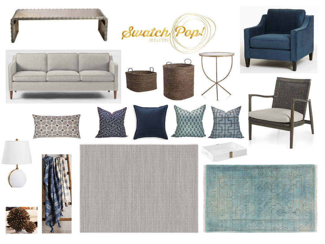 Online design site SwatchPop! sent Carolyn McLaurin a design concept and a shopping list for her family room. (SwatchPop!)