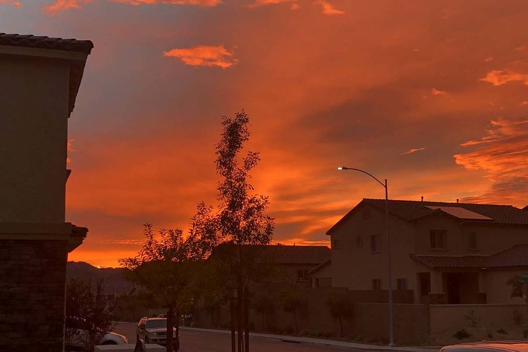 Sunrise as seen in Henderson, Tuesday, Dec. 4, 2018. More clouds will be moving back into the Las Vegas Valley sometime in the evening and overnight. (Roy Thevenot)