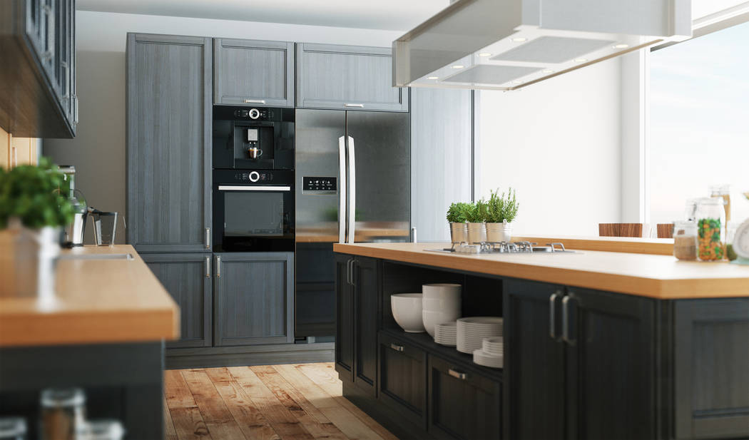 Kitchens can be made up of mixed patterns, finishes and materials. One style or one trend doesn't have to dominate. (Thinkstock)