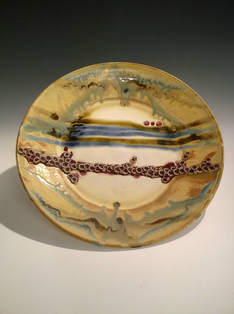 "Platter by Angel Brame on display in the ""Fest-a-vous"" show. (Clay Arts Vegas)"