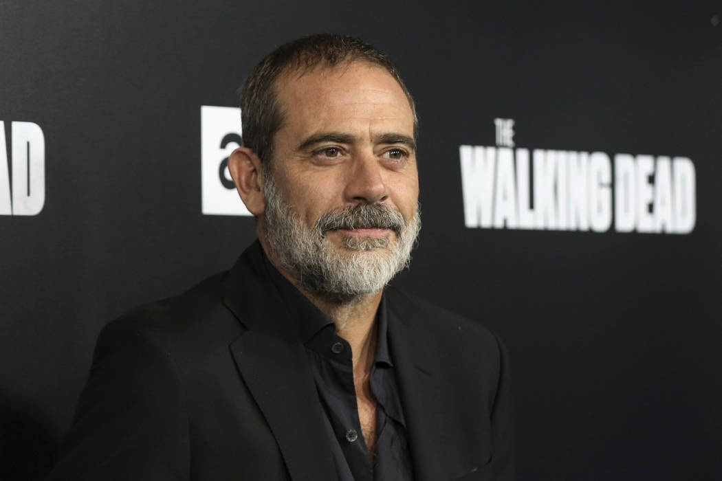 """In this Sept. 27, 2018, file photo, Jeffrey Dean Morgan arrives at the LA Premiere of the Season 9 of the AMC's """"The Walking Dead"""" in Los Angeles. A North Carolina animal rescue group says a donk ..."""
