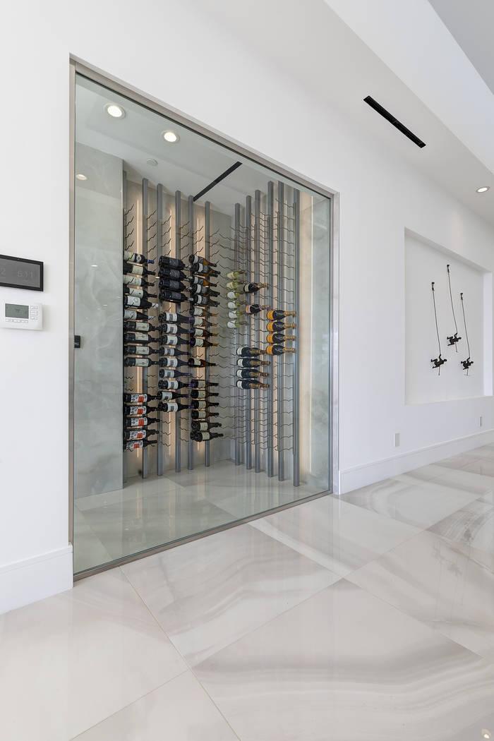 The wine room. (Richard Luke Architects)