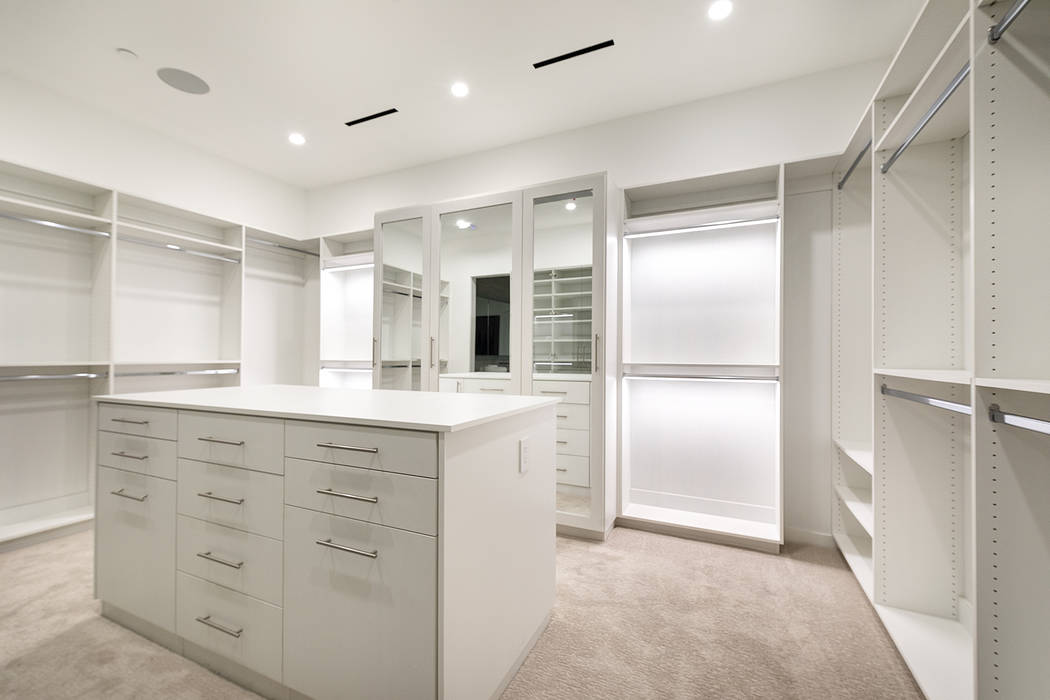 The closet in the master suite. (Richard Luke Architects)