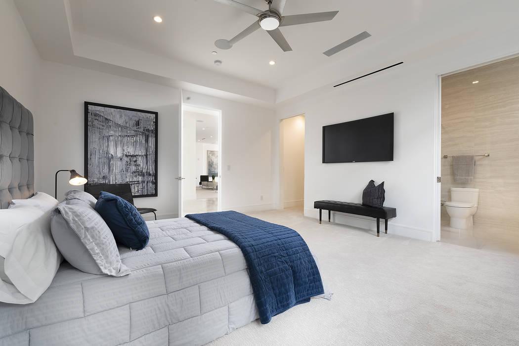 One of three bedrooms. (Richard Luke Architects)
