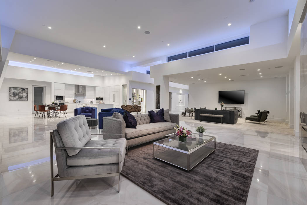 The living area is large and open. (Richard Luke Architects)