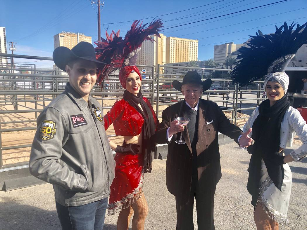 Plaza Chief Executive Officer Jonathan Jossel and former Las Vegas Mayor Oscar Goodman are shown at the ribbon-cutting for Core Arena at the Plaza on Tuesday, Dec. 4, 2018. (John Katsilometes/Las ...