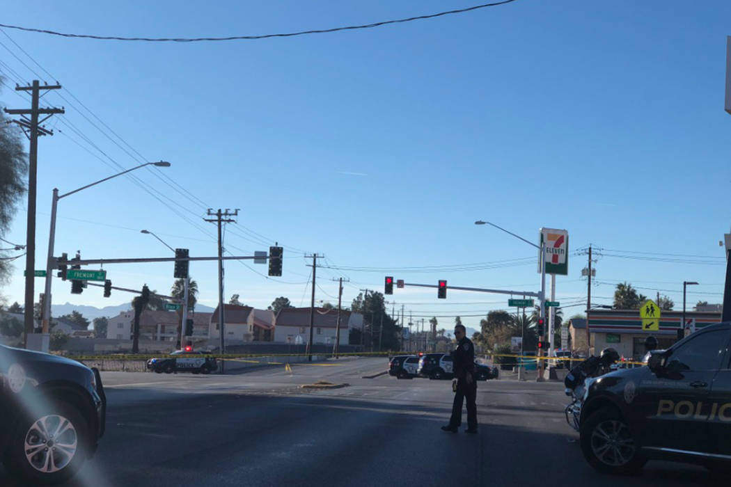 Paul Bruning pulled Demontry Boyd over on suspicion of driving recklessly near Sunrise Avenue and 18th Street. (Rio Lacanlale/Las Vegas Review-Journal)