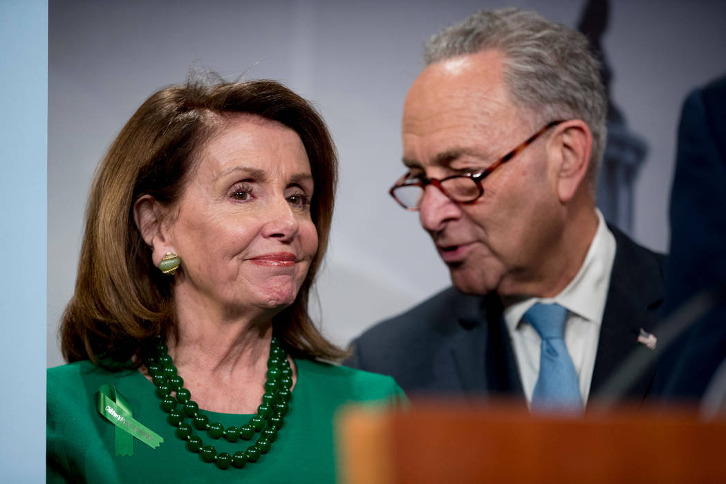 Nancy Pelosi and Chuck Schumer.