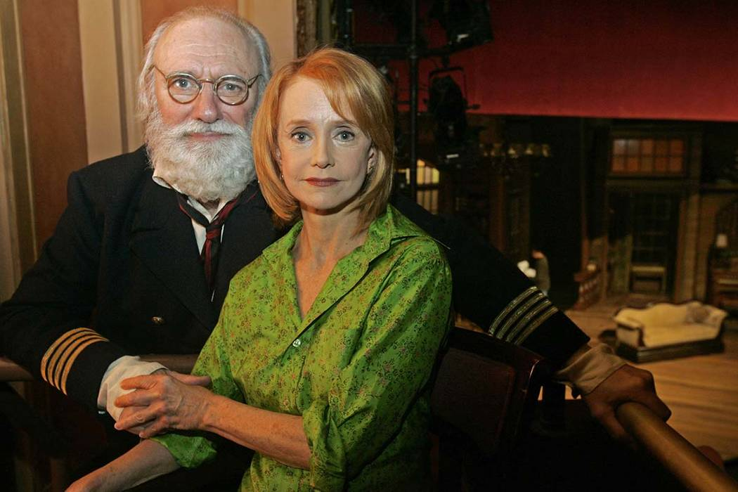 """In this Oct. 6, 2006 file photo, actors Philip Bosco and Swoosie Kurtz, who are appearing in George Bernard Shaw's """"Heartbreak House,"""" pose at the American Airlines Theatre in New York. Bosco, th ..."""