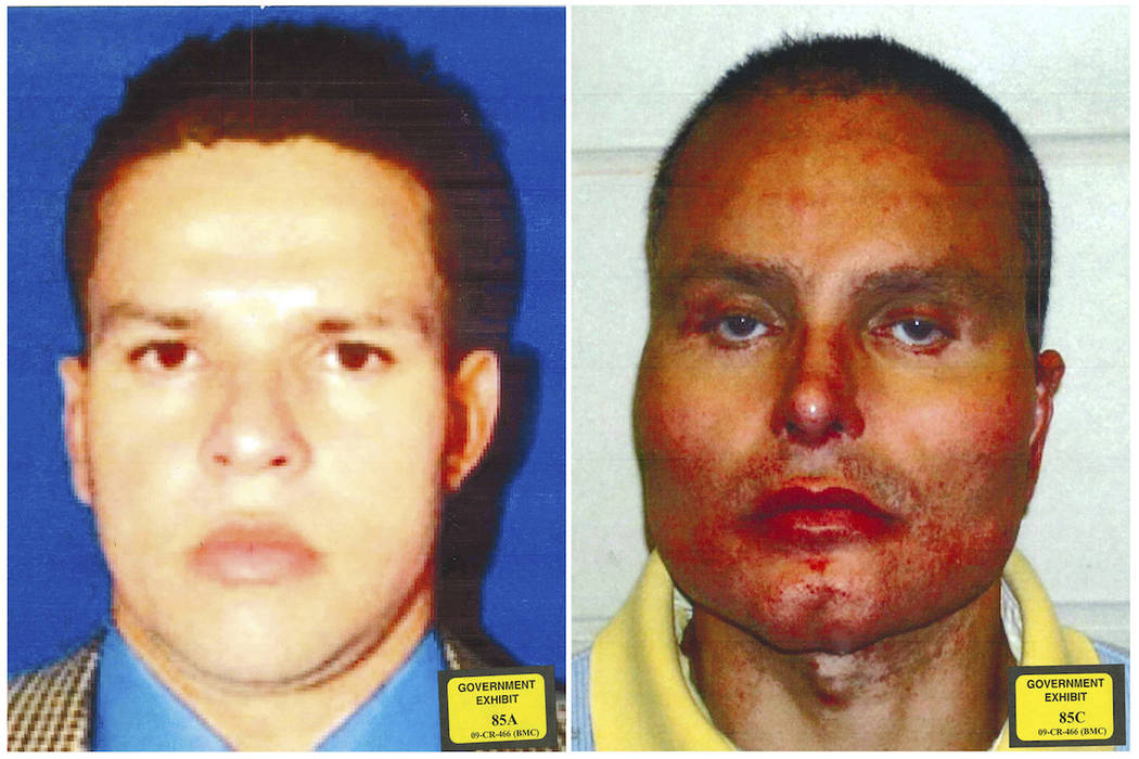 In this combination of two undated photos provided by the U.S. Attorney's Office for the Southern District of New York, former Colombian drug lord Juan Carlos Ramirez Abadia is shown. The latest s ...
