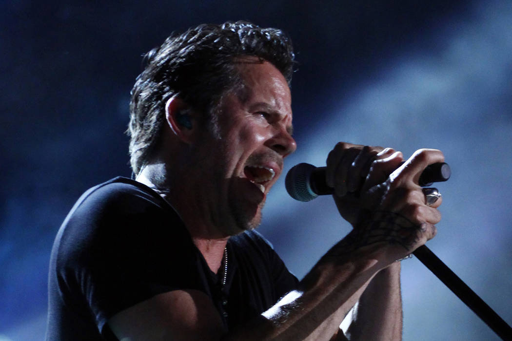 Gary Allan performs on Day 4 at the 2013 CMA Music Festival at LP field on Sunday, June 9, 2013, in Nashville, Tenn. (Wade Payne/Invision/AP)