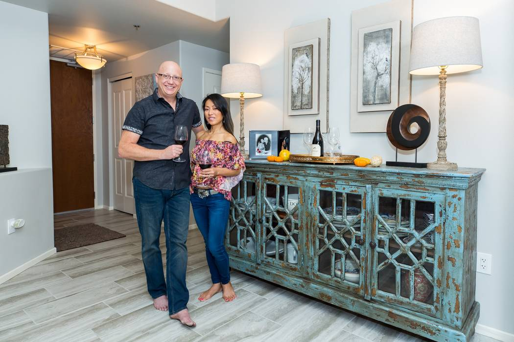 Carl Wright and Hyesun Jang invested in a home at One Las Vegas. (Mona Shield Payne One Las Vegas)