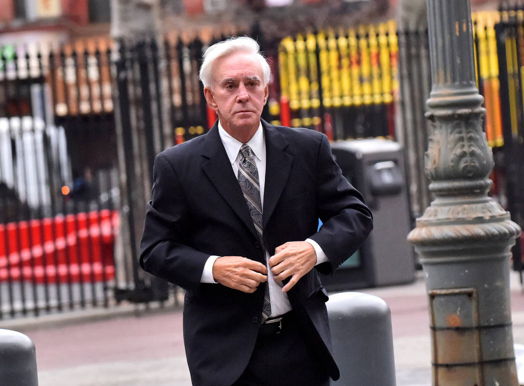 "William ""Bill"" Walters, professional gambler and owner of Walters Golf, enters court in New York on April 7, 2017. (Louis Lanzano/Bloomberg)"