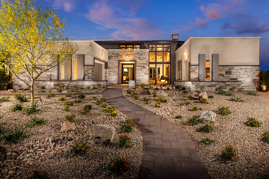 The Wakefield Desert Prairie floor plan at Regency by Toll Brothers is one of several move-in-ready homes throughout five neighborhoods in The Cliffs village at Summerlin. (Summerlin)