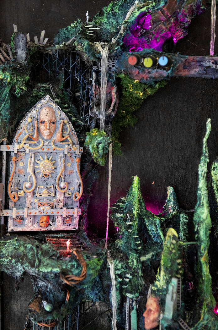 """The Gardens of Enki"" by Kent Caldwell is on display at Core Contemporary Gallery in Las Vegas, Wednesday, Dec. 12, 2018. Caroline Brehman/Las Vegas Review-Journal"