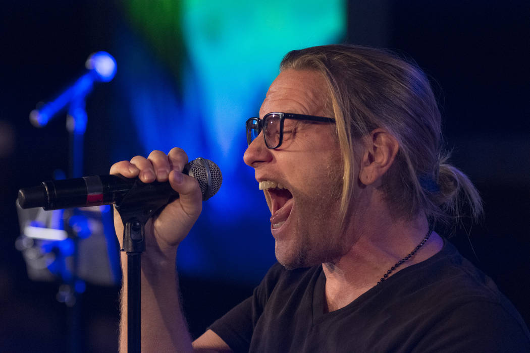 """Andrew Freeman rehearses for this month's """"Mondays Dark"""" at Vinyl at the Hard Rock Hotel in Las Vegas Monday, June 20, 2016. This month's show raised money for Habitat for Humanity Las Vegas. (Jas ..."""