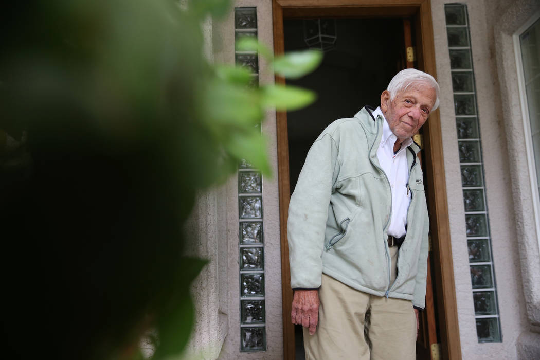 Dr. S. Jay Hazan, 93,a World War II veteran, at his home in Las Vegas, Wednesday, Dec. 5, 2018. Hazan was arrested on Friday after he caused a ruckus at the VA hospital and stole his drivers' ca ...