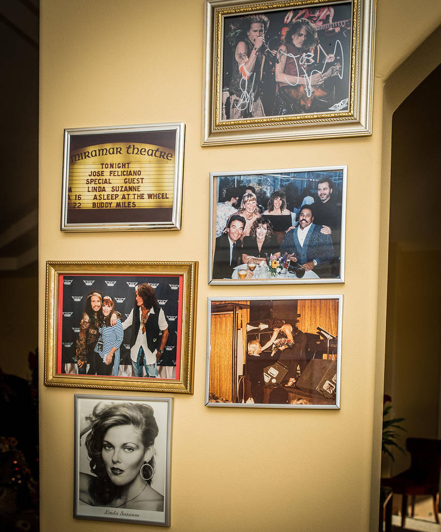 The walls are filled with celebrity photos. (Tonya Harvey Real Estate Millions)