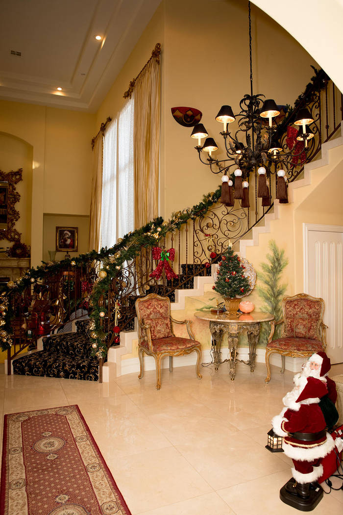 John and Linda Wackerman have decorated their Spanish Trail Country Club home for the holidays. (Tonya Harvey Real Estate Millions)