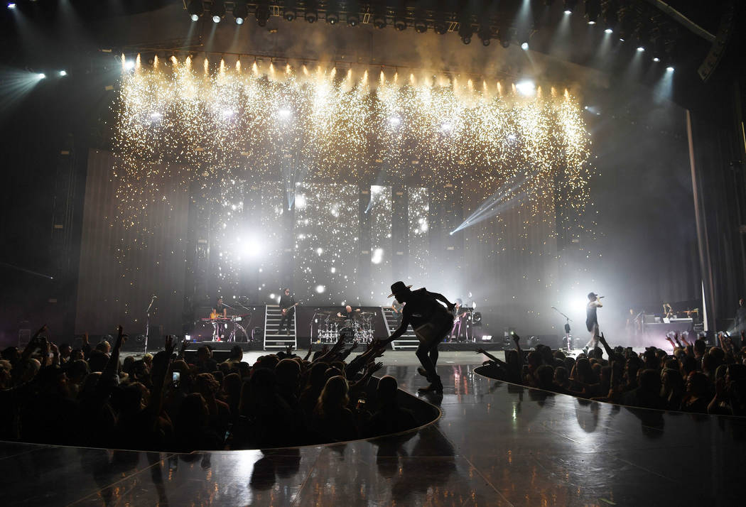 American country music duo Brian Kelley (L) and Tyler Hubbard of Florida Georgia Line perform at Zappos Theater at Planet Hollywood Resort & Casino on December 5, 2018 in Las Vegas, Nevada. (Phot ...