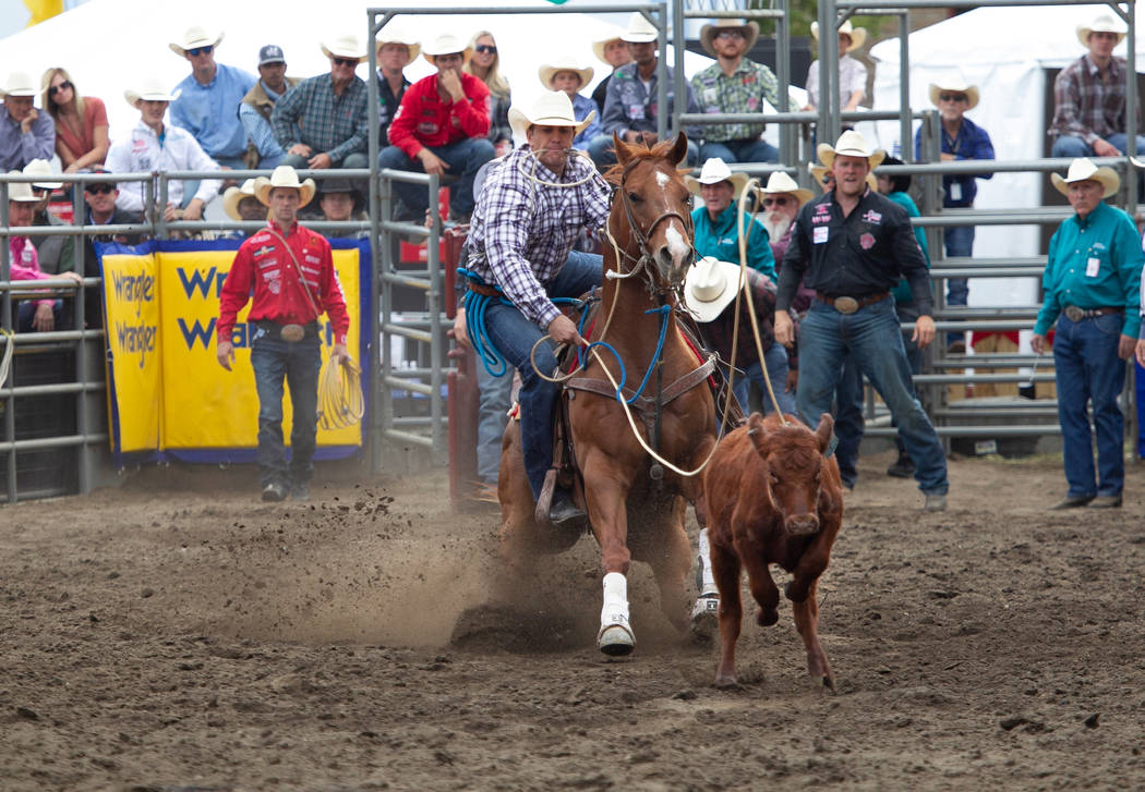 Rhen Richard, competing in both tie-down roping and team roping at the Wrangler NFR, is third in the world all-around standings, behind very good company of defending champion Tuf Cooper and 13-ti ...