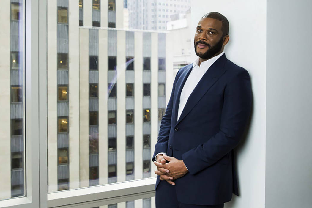 Actor-filmmaker and author Tyler Perry poses for a portrait in New York in 2017. (Photo by Amy Sussman/Invision/AP)