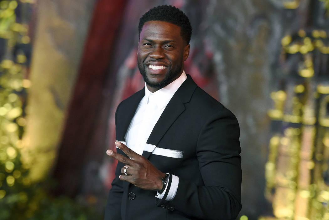 """Kevin Hart arrives at the Los Angeles premiere of """"Jumanji: Welcome to the Jungle"""" in Los Angeles in 2017. (Photo by Jordan Strauss/Invision/AP)"""