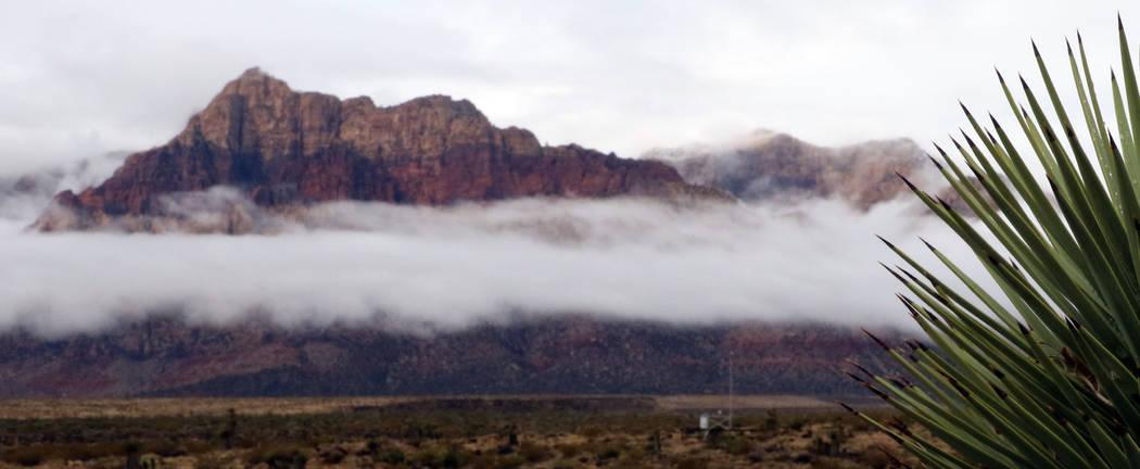 Clouds loom over Red Rock Canyon on Friday, Dec. 7, 2018, in Las Vegas. Bizuayehu Tesfaye Las Vegas Review-Journal @bizutesfaye