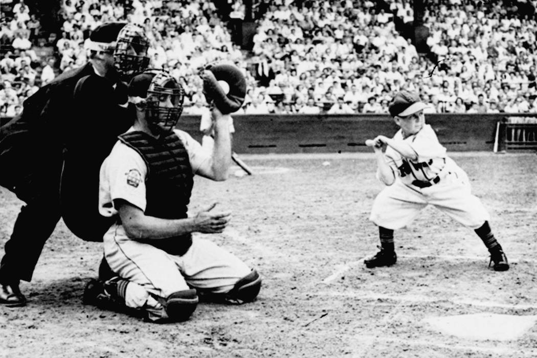 The owner of the St. Louis Browns, Bill Veeck, sent in Eddie Gaedel, a 3-foot, 7-inch stuntman, to pinch-hit in a game against Detroit at Sportsman's Park, in St. Louis, on August 19, 1951. Gaede ...
