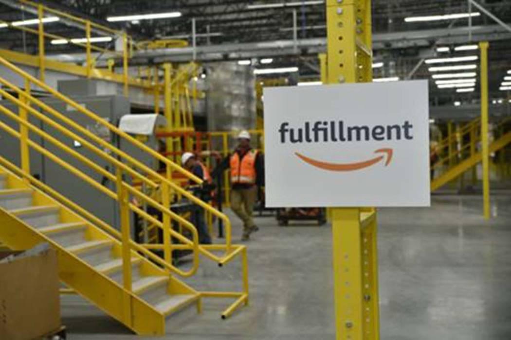 The Amazon fulfillment facility under construction near 5835 E. Ann Road in Las Vegas. (Courtesy)